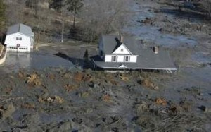 The James home in the middle of a sea of 1.2 billion gallons of Coal Ash