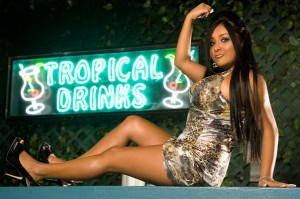 """Nicole Polizzi, on the set of """"Jersey Shore"""""""