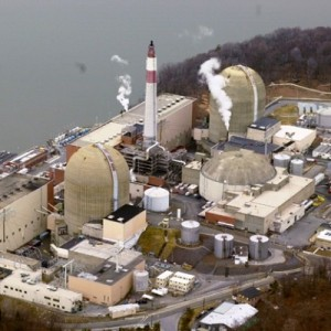 Aerial photo of Indian Point, courtesy Columbia University Earth Institute