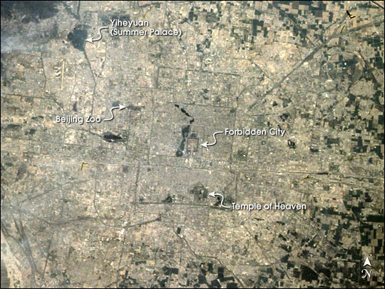 Satellite image of Beijing, April-May 1998