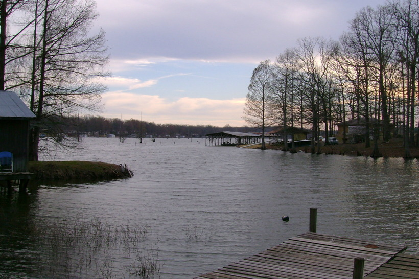 Picturesque view of Lake Conway, Mayflower, Arkansas