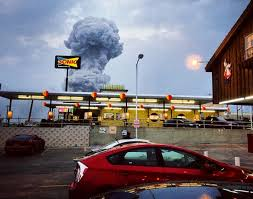 Cloud from explosion at Texas fertilizer plant.