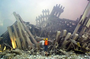 Ground Zero in Ruins. Courtesy CBS News
