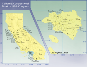 The redistricting plan drawn by the Califormia State legislature for the 112th Congress (2011-2013), the last one based on the 2000 Census.
